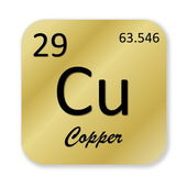 Copper element — Stockfoto