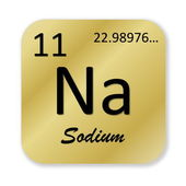 Sodium element — Foto de Stock