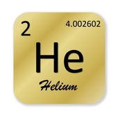 Helium element — Stockfoto