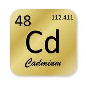 Cadmium element — Stock Photo