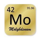 Molybdenum element — Stock Photo