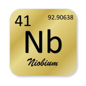 Niobium element — Stock Photo