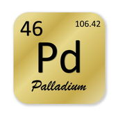 Palladium element — Stock Photo