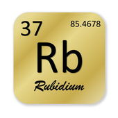 Rubidium element — Stock Photo