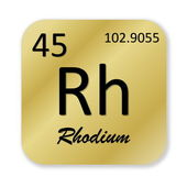 Rhodium element — Stock Photo
