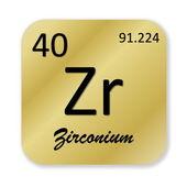 Zirconium element — Stock Photo