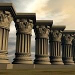Stone columns - 3D render — Stock Photo #48576017