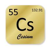 Cesium element — Stock Photo