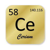 Cerium element — Foto Stock