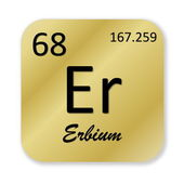 Erbium element — Stockfoto