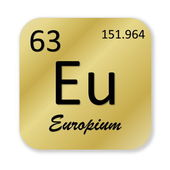 Europium element — Stockfoto