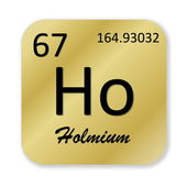 Holmium element — Stockfoto