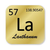 Lanthanum element — Foto Stock
