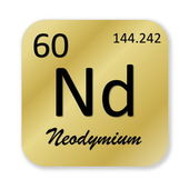 Neodymium element — Stock fotografie