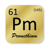 Promethium element — Foto Stock