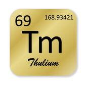 Thulium element — Stock Photo