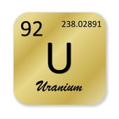 Uranium element — Stock Photo