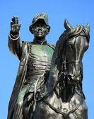 общие dufour статуя, женева, швейцария — Стоковое фото