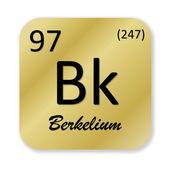 Berkelium element — Stock Photo