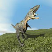 Aucasaurus dinoasaur roaring - 3D render — Stock Photo