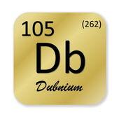 Dubnium element — Stockfoto