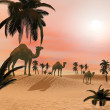 Camels in the desert - 3D render — Stock Photo #51479573