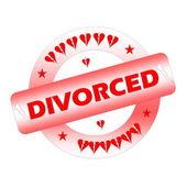 Divorced stamp — Stock Photo
