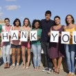 Group of saying Thank - Stock Photo