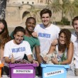 Stok fotoğraf: Happy and diverse volunteer group