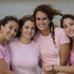 Group of women wearing pink — Stock Photo