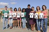 Groupe de dire merci — Photo