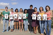 Skupina říká děkuji — Stock fotografie