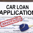 Approved car loan application form - Stock Photo