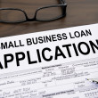Stock Photo: Approved small business loan application form