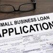 Stock Photo: Approved small business loapplication form
