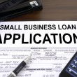 Approved small business loan application form - Foto Stock