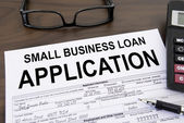 Approved small business loan application form — Stock Photo