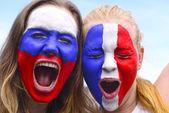 USA american woman soccer fans — Stock fotografie