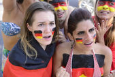 German group of soccer fans — Stock Photo
