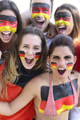 German soccer fans commemorating victory — Stock Photo