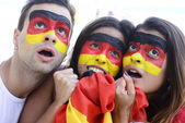 German soccer fans astonished. — Stock Photo