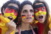 German soccer fans astonished. — Stock fotografie