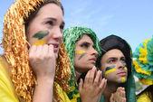 бразильские футбольные фанаты — Стоковое фото