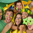Brazilian sport soccer fans amazed — Stock Photo #41020857