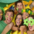 Stock Photo: Brazilisport soccer fans amazed