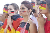 German soccer fans — Stock Photo