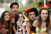 びっくりしたのドイツのスポーツ サッカー ・ ファン — ストック写真