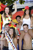 German sport soccer fans celebrating — Stock Photo