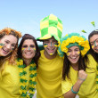 Brazilian soccer fans — Stock Photo
