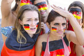 Group of german soccer fans — Stock Photo